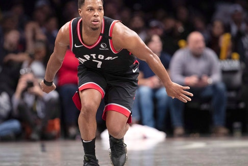 Toronto Raptors guard Kyle Lowry wasn't traded at the deadline and will become a free agent this summer.
