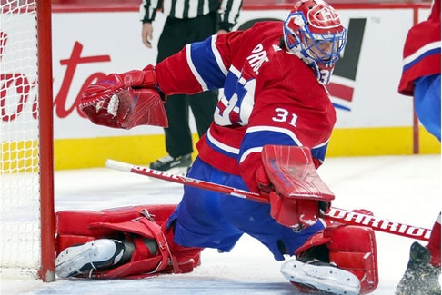 """""""The preparations we have this week will be good for everyone, and it's nice to have some practice time,"""" says Canadiens goaltender Carey Price, seen in March file photo."""