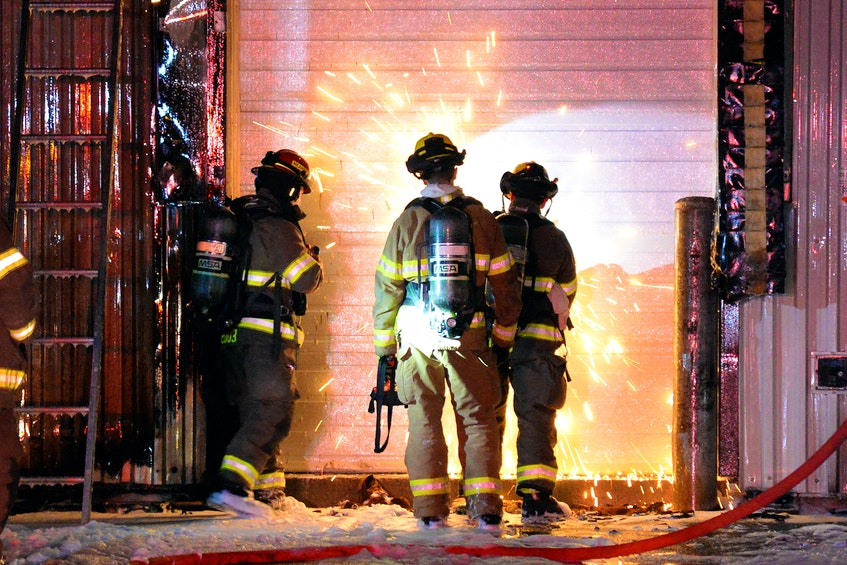 Firefighters made quick work of a structure fire in St. John's Saturday night. Keith Gosse/The Telegram