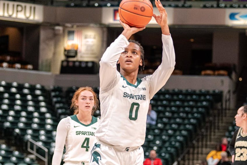 Former Michigan State star guard Shay Colley, who's originally from East Preston but has lived in Ontario since she was 10, was invited to this week's Canada Basketball senior women's national team training camp in Florida. - MICHIGAN STATE UNIVERSITY ATHLETICS