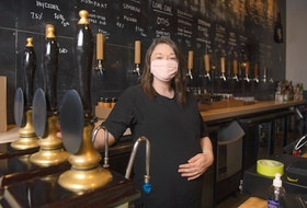 Laura MacDonald, co-owner of Stillwell, poses for a photo at Stillwell's Beer Bar on Barrington St. on Monday, May 17, 2021.