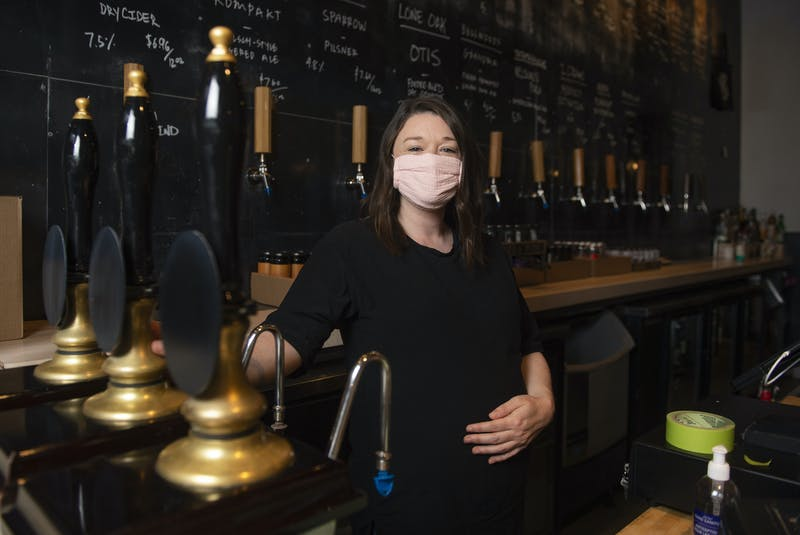 Laura MacDonald, co-owner of Stillwell, poses for a photo at Stillwell's Beer Bar on Barrington St. on Monday, May 17, 2021. - Ryan Taplin