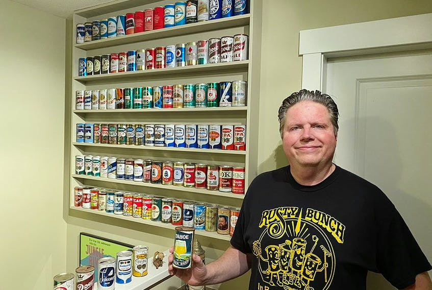 Archaeologist David Maxwell has been collecting beer cans since the 1970s.