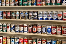 At its height, David Maxwell's collection included 4,500 beer cans.