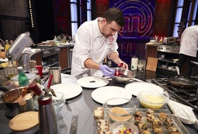 Dartmouth chef Andy Hay prepares his upscale interpretation of blueberry grunt on the season finale of MasterChef Canada: Back to Win.