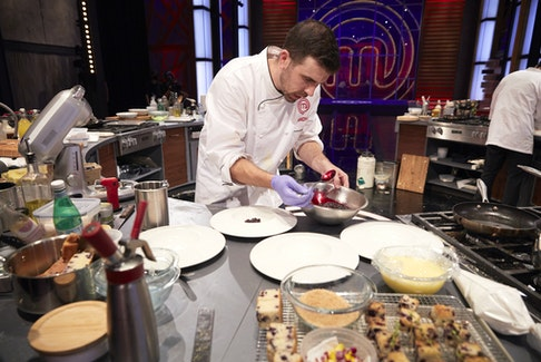 Dartmouth chef Andy Hay prepares his upscale interpretation of blueberry grunt on the season finale of MasterChef Canada: Back to Win.