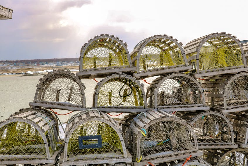 Lobster traps, like these seen in Cape Breton, are one of the most common forms of ghost gear in Atlantic Canada. JESSICA SMITH • CAPE BRETON POST