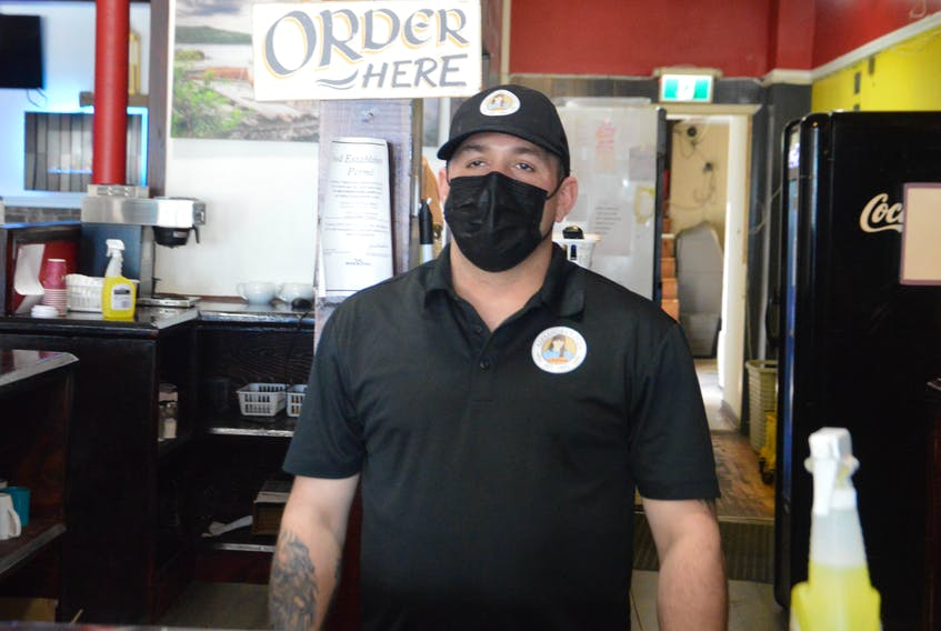 Alexandra's Pizza owner Justin Ayre is frustrated after seeing a sharp decline in business after Nova Scotia Public Health placed the chain's downtown Sydney restaurant on its list of potential COVID-19 exposure locations. DAVID JALA/CAPE BRETON POST