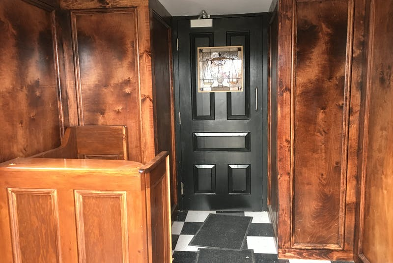 The entrance to the Courtroom No. 2 Speakeasy.  - Nicholas Mercer