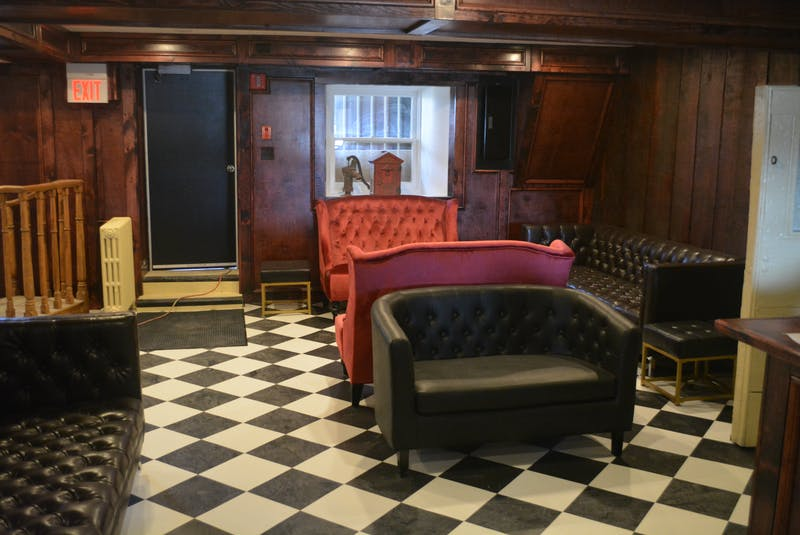 Courtroom No. 2 has been transformed into a speakeasy that has incorporated pieces of the former courthouse into it. - Nicholas Mercer