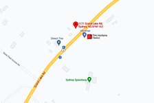 There's a fuel spill near CBU on Grand Lake Road (May 18, 2021). GOOGLE MAP