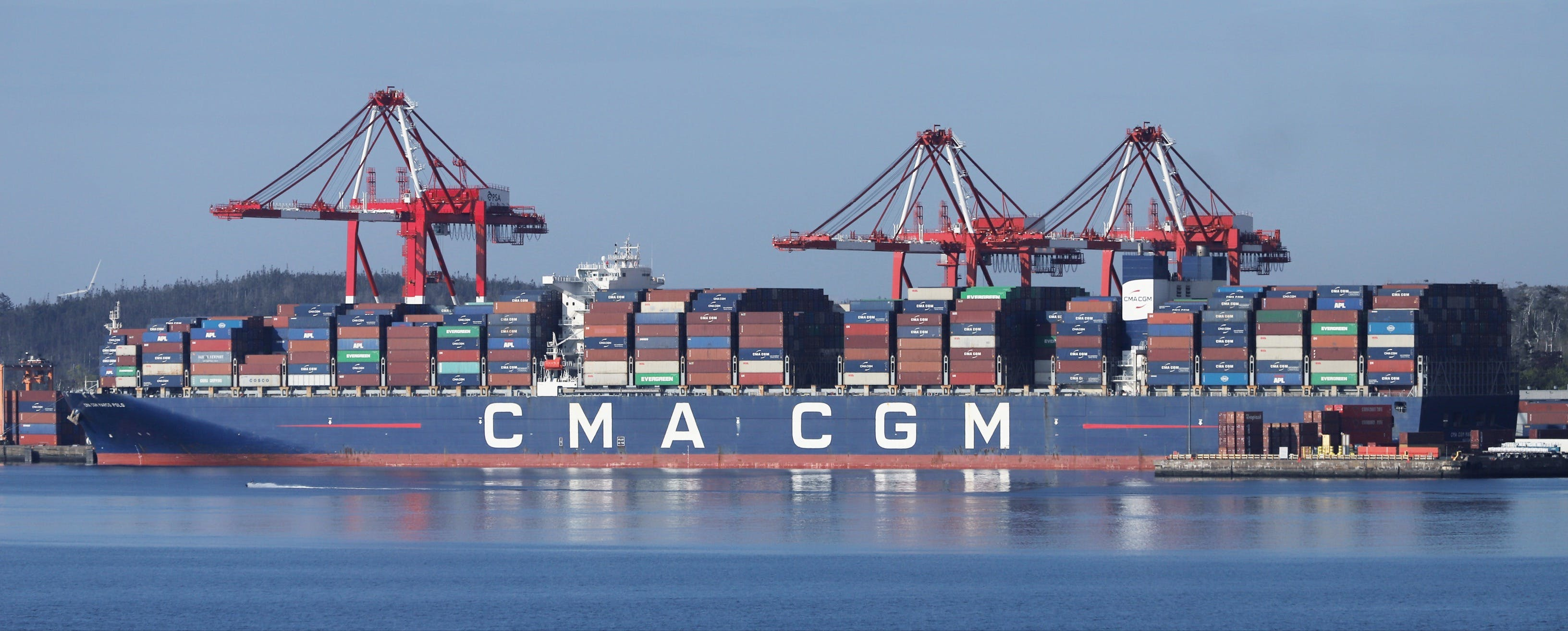 The CMA CGM Marco Polo has docked at the Port of Halifax after arriving Monday evening. It's the largest container ship to call on a Canadian port and the first vessel of its size to dock on the East Coast of North America.