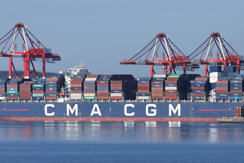 The CMA CGM Marco Polo at the Port of Halifax on Tuesday, May 18, 2021. - Tim Krochak