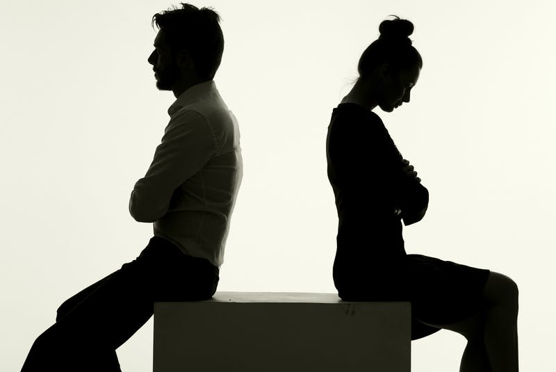 Marital satisfaction typically changes over time, says Acadia psychology professor Diane Holmberg, usually starting very high, dropping some over the first few years, then stabilizing. Statistics show approximately half of marriages currently end in divorce. - RF Stock