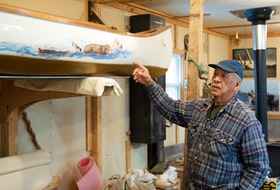 Joe Goudie grew up on the Churchill River in a family of trappers. Watching his father and brother work on their own canoes helped inspire him to take up the craft later in life. - Photo by Shawn Rivoire