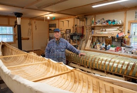 Happy Valley-Goose Bay canoe maker Joe Goudie is putting down his tools after 30 years working the craft. - Photo by Shawn Rivoire