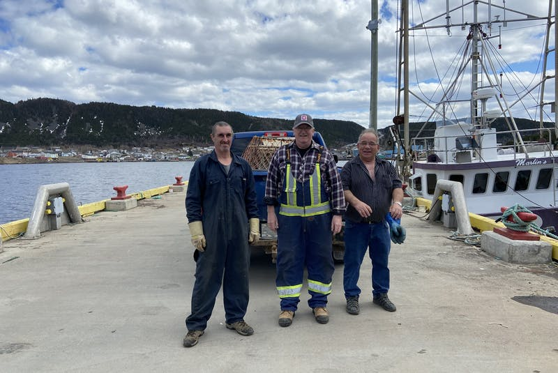 The crew of the Misty Blue includes Bobby Tilley (left), skipper Terry Ryan and Junior Martin. - Contributed
