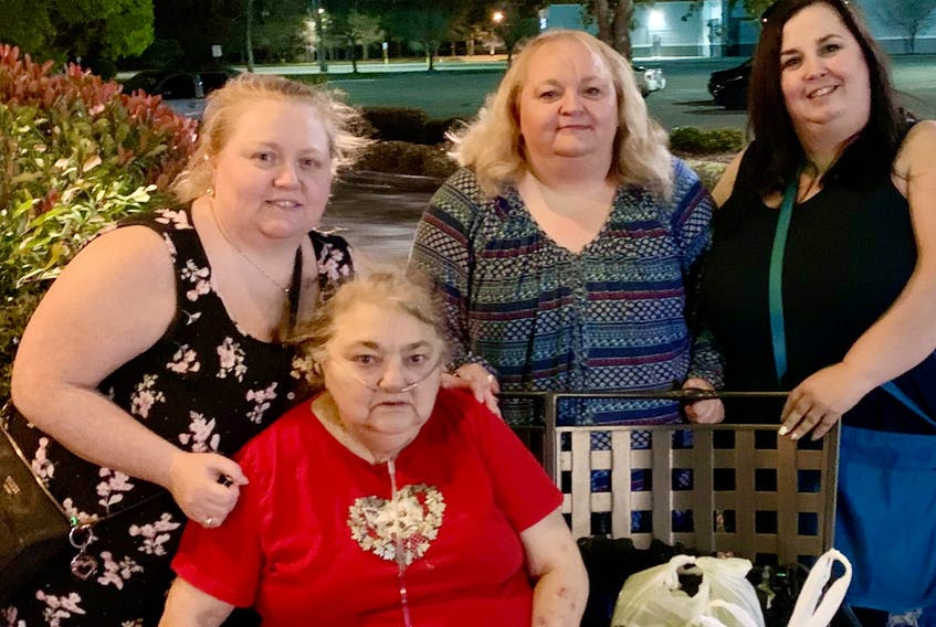 Members of the Sullivan family are shown in happier times. Seated is mother Mary Sullivan, who died in 2020. Standing left to right are sisters Valerie MacDonald of North Sydney, Carmel Albert of Louisiana and Shauna Wells of Dartmouth. CONTRIBUTED
