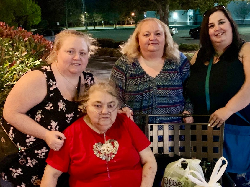 Members of the Sullivan family are shown in happier times. Seated is mother Mary Sullivan, who died in 2020. Standing left to right are sisters Valerie MacDonald of North Sydney, Carmel Albert of Louisiana and Shauna Wells of Dartmouth. CONTRIBUTED - Contributed