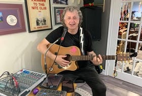 Ross Tilley in his home studio in Marystown.