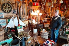 A trove of antiques, artifacts and knickknacks from Newfoundland's past fill a boathouse on Walter Power's property in Marystown.