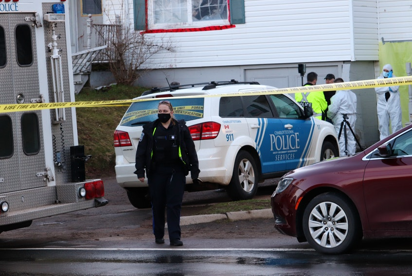 Police investigate a sudden death Sunday at a St. Peters Road home in Charlottetown.