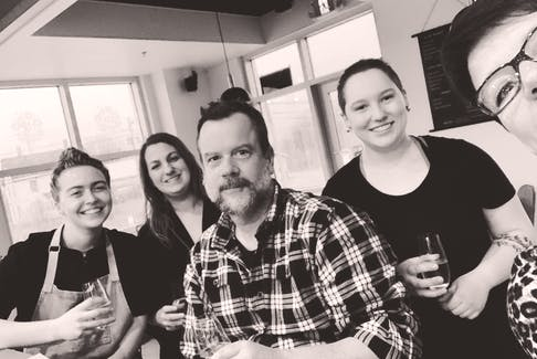 Amy Steeves, Kyla Dunn, Jason Lynch, Emma Marchand and Beatrice Stutz hope to be able to welcome customers face-to-face again soon at Cumin Kitchen and Drink in New Minas. Just two weeks after the restaurant opened — 14 months after the original opening was planned — the province went into another lockdown.