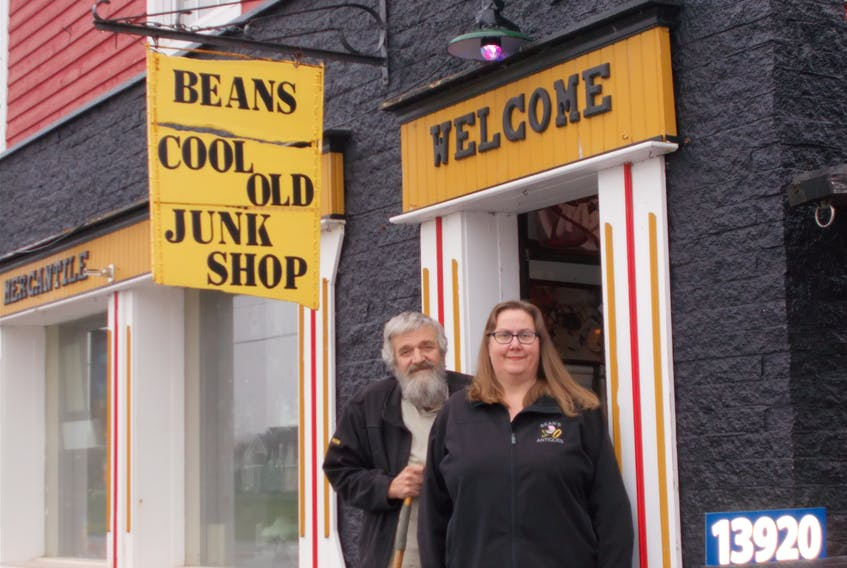 Sheri and Ron Walker are selling memories at Beans Cool Old Junk Shop on Highway 1 in Wilmot. - Contributed