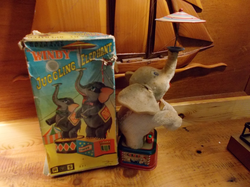 Windy the Juggling Elephant is one of the countless small treasures waiting for a new home at Beans Cool Old Junk Shop. - Contributed