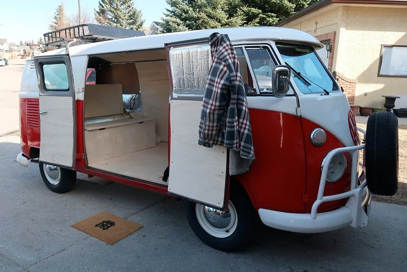 Panelling and a bed have been installed in the Williamson's 1964 Volkswagen bus. Contributed/Sandy and Lisa Williamson - POSTMEDIA