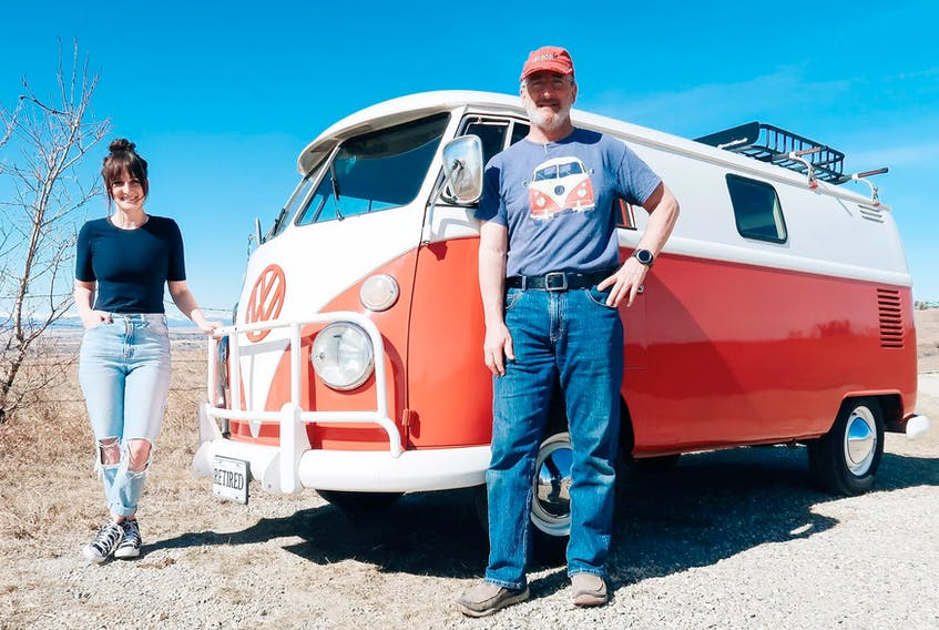 Father and daughter Sandy and Lisa Williamson have been working together to convert their 1964 Volkswagen into a functional camper. Contributed/Sandy and Lisa Williamson
