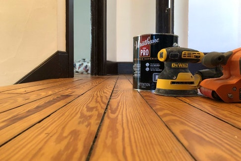 This red pine floor has been in constant use since 1916 and still looks great after a recent DIY refinishing.
