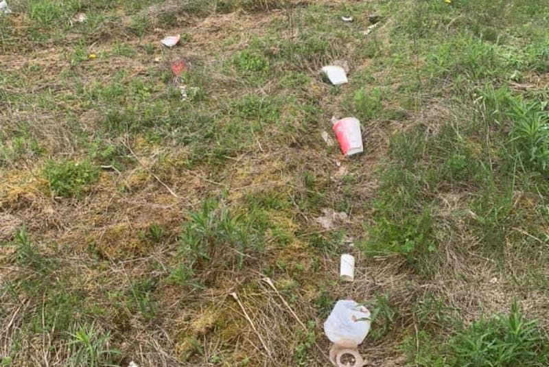 Some of the garbage Tori Mitchell and Keegan Richardson found in the area of Truro Heights they will be cleaning on Saturday, May 22. - Contributed