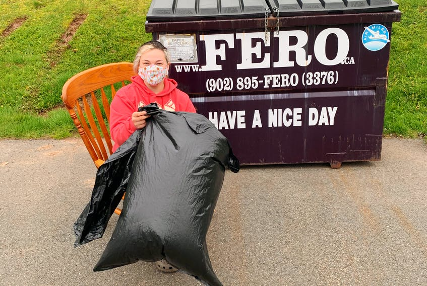 Tori Mitchell is always driving throughout Truro, N.S. for her job and is disheartened by the amount of trash she sees. If she sees anyone picking up garbage, she has some gift cards ready for them.