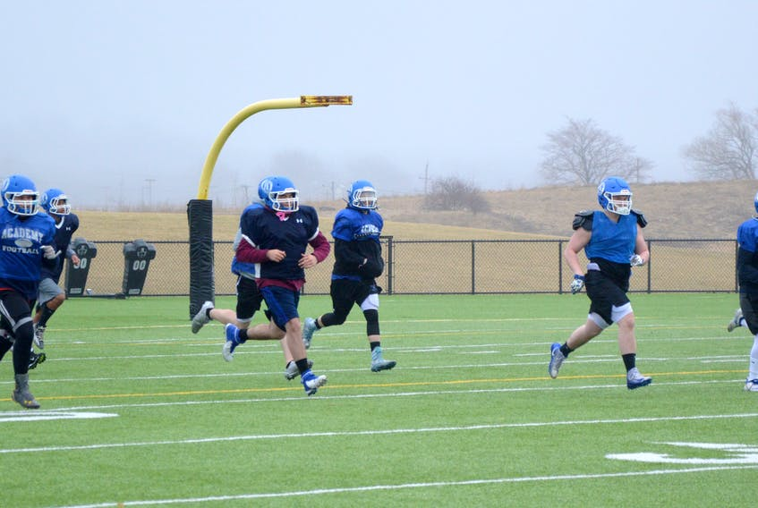 Prior to the provincial lockdown, members of the Sydney Wildcats were preparing for a spring football season. The COVID-19 pandemic has forced the cancellation of the season. JEREMY FRASER/CAPE BRETON POST