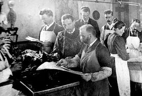 Students in the Anatomy Laboratory of the Halifax Medical College, 1890.   The woman identified in the photo is Clara Mary Olding, the third woman to graduate (1896) from the college. - Contributed