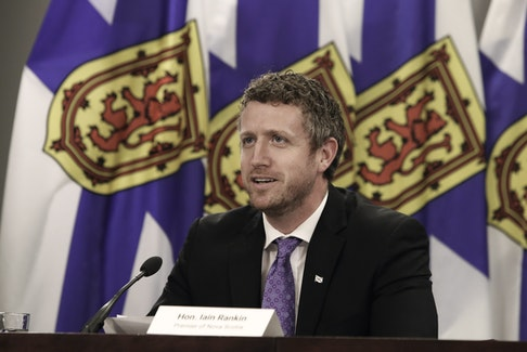 Premier Iain Rankin said a detailed reopening plan will be revealed on Friday. He's pictured at a COVID-19 briefing on May 25, 2021.