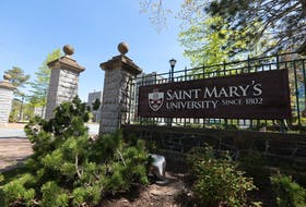 The entrance to Saint Mary's University in Halifax, photo taken May 25, 2021.