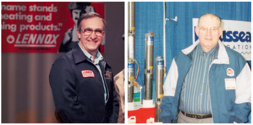 Harry Rhyno (left) and Gilbert Langille (right) never imagined their businesses would join forces one day, but both agree it was the right decision for everyone. - Photo Contributed.