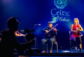 Troy and Sabra MacGillivray performed on stage at Membertou Trade and Convention Centre during Celtic Colours at Home 2020. CONTRIBUTED • COREY KATZ