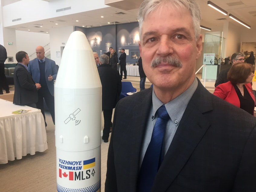 Stephen Matier, president of Maritime Launch Services, at St. Francis Xavier University in this file photo. - Aaron Beswick
