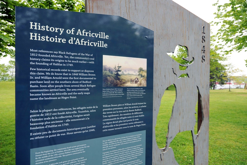 The Africville Interpretive Project is a partnership between the Africville Heritage Trust and the Africville Genealogy Society, in collaboration with the municipality. Five Corten steel interpretive panels have been installed in Africville Park, showing the history, families and daily lives of the former residents of Africville. - Eric Wynne