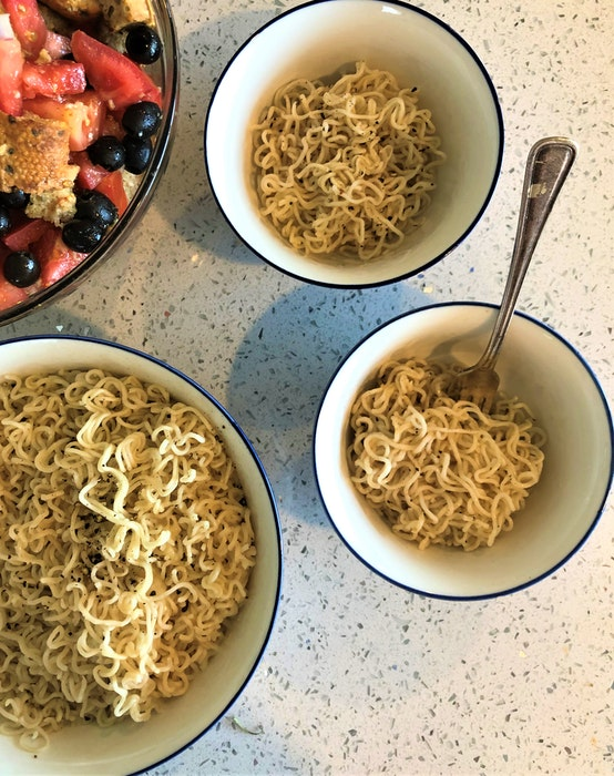 Inspired by Chef David Chang, Mark Dewolf makes a version of Cacio e Pepe made with instant ramen noodles. - Mark DeWolf