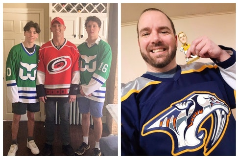 What is it like to cheer for a different team than most of your friends? These guys know.