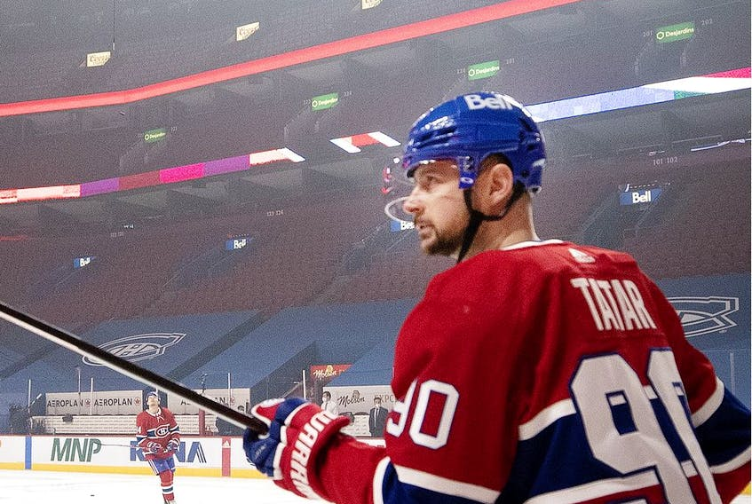 """""""NHL is a business,"""" says the Canadiens' Tomas Tatar, who can become an unrestricted free agent after this season, along with linemate Phillip Danault. """"You can't keep everyone."""""""