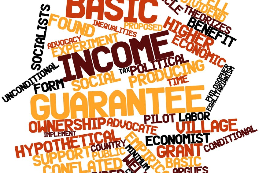 Called by many different names (basic income guarantee; guaranteed basic income; guaranteed livable basic income, etc.), BI is a program that ensures a cheque is sent to everyone whose income falls below a certain floor.