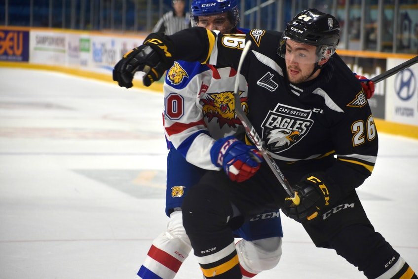 Former Cape Breton Eagle forward Egor Sokolov was named to the American Hockey League Canadian Division all-star team after finishing his rookie year with 25 points in 35 games. JEREMY FRASER • CAPE BRETON POST - Jeremy Fraser