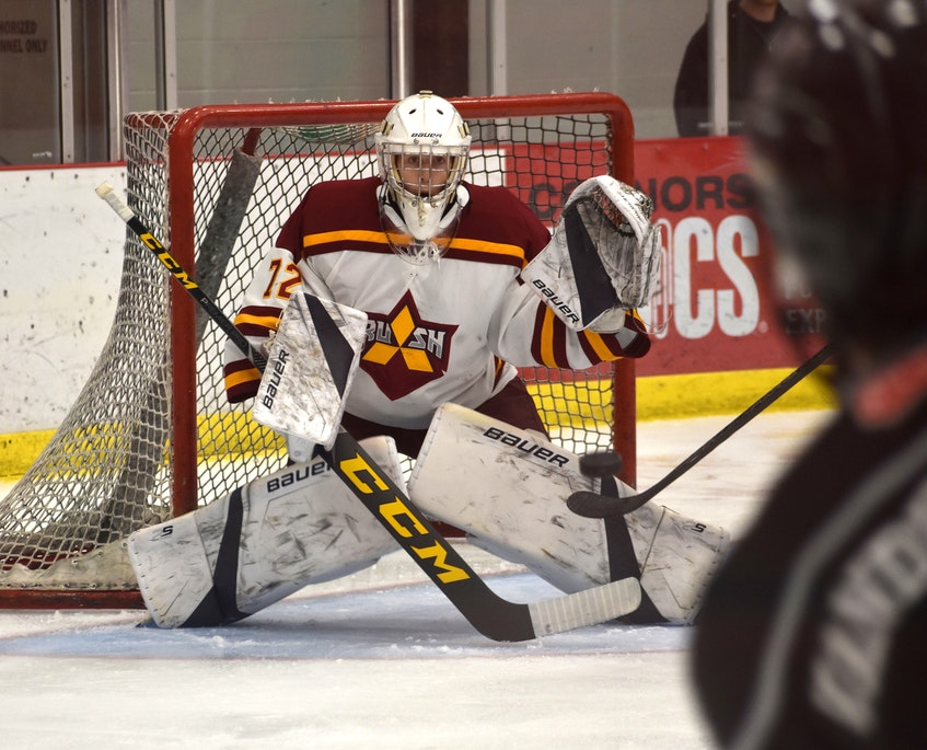 The Nova Scotia Under-18 Major Hockey League recently announced its annual scholarship and bursary recipients. Jack Cashen of the Sydney Mitsubishi Rush was among those players recognized with a monetary award. JEREMY FRASER • CAPE BRETON POST - Jeremy Fraser