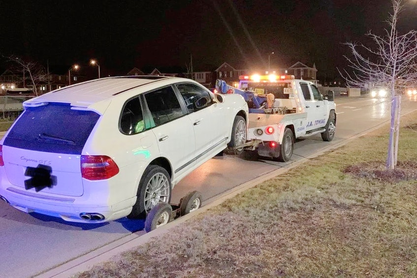 If you have a preferred tow company to use, police will be reasonable in allowing you to use them.Peel Police photo/via Twitter - POSTMEDIA