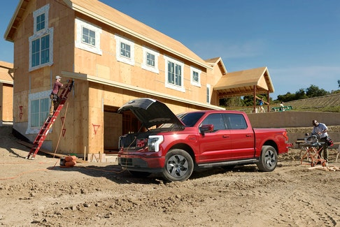 Little is known about the battery of Ford's 2022 F-150 Lightning all-electric pickup truck. Ford Motor Co./Handout